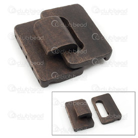 1702-0620-02 - Wood Multi-Strand Hook Clasp 4.5x4.8x1.2cm Brown 5 Holes 1pc 1702-0620-02,Findings,Clasps,Wood,Wood,Multi-Strand Hook Clasp,4.5x4.8x1.2cm,Brown,Brown,Wood,5 Holes,1pc,China,montreal, quebec, canada, beads, wholesale