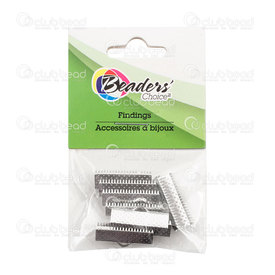 BC1-1703-0304-WH - Metal Ribbon Claw Connector 20mm Nickel Nickel Free Nickel Color 8pcs BC1-1703-0304-WH,Findings,Retail packagings,montreal, quebec, canada, beads, wholesale